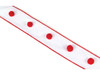 """White & Red Dotted Christmas Wedding Party Wired Ribbon 2.5"""" x 20 Yards - 14430532"""