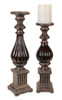 "Set of Decorative Brown Antique Looking Candle Holders 18"" - 30893650"