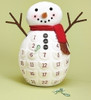 """Pack of 2 Plush Snowman Countdown Calender Table Top Christmas Decorations 18"""" - 31492644"""