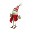 """10"""" Cream Standing Bird with Scarf and Plaid Hat Christmas Tabletop Decoration - 32263249"""