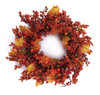 """24"""" Autumn Harvest Mixed Berry and Maple Leaf Artificial Wreath - 31105725"""