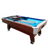 8' x 4.25' Brown and Blue Deluxe Billiard Pool and Snooker Game Table - 32283691