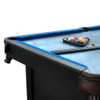 7' x 3.8' Black and Blue Slate Billiard and Pool Game Table - 32283728
