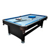 8' x 4.3' Black and Blue Slate Billiard and Pool Game Table - 32283729