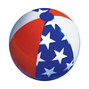 "22"" Water Sports Classic Inflatable Patriotic Americana Stars & Stripes Swimming Pool or Beach Ball - 31483735"