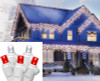 Set of 70 Red and Pure White LED Wide Angle Icicle Christmas Lights - White Wire - 25244538