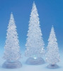 3-Piece Icy Crystal Battery Operated Lighted LED Color Changing Christmas Trees - 9728289