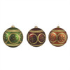 "3ct Earth Tone Floral Glitter Shatterproof Christmas Ball Ornaments 4.75"" 120mm - 31093500"