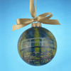"""Museum Masters International Water Lily Pond Hand-Painted Glass Christmas Ball Ornament 4"""" (100mm) - 31084887"""
