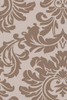 10' x 14' Falling Leaves Damask Light Brown and Stone Gray Hand Tufted Wool Area Throw Rug - 31314035