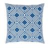 """20"""" Blue and White Chevron Decorative Throw Pillow - 32216030"""