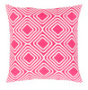 """22"""" Hot Pink and Snowflake White Woven Decorative Throw Pillow – Down Filler - 32216126"""