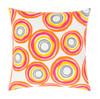 "22"" Magenta Pink, Goldfish Orange and White Woven Decorative Throw Pillow– Down Filler - 32216109"