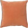 """18"""" Calma Semplicita Rust Orange Decorative Square Throw Pillow - 31079467"""