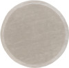 6' Simply Neutral Solid Ash Gray and Ivory Hand Loomed and Hand Carved Round Wool Area Throw Rug - 31091703