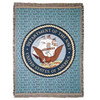 """United States Department of the Navy Military Afghan Throw Tapestry - 50"""" x 70"""" - 7379167"""