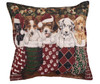 """Set of 2 Christmas Puppy Dog Stockings Decorative Tapestry Throw Pillows 17"""" - 31081420"""