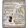 "Music to My Ears Violin Notes Trumpet Tapestry Throw Blanket 50"" x 60"" - 7379966"