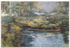 """60"""" Hand Painted Oil on Canvas Lake Wall Art Painting - 28265717"""