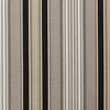 Outdoor Patio Furniture Wicker Loveseat Cushion - Black & Tan Striped Voyage - 13986687