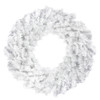 "30"" White Canadian Pine Artificial Christmas Wreath - Unlit - 32607291"