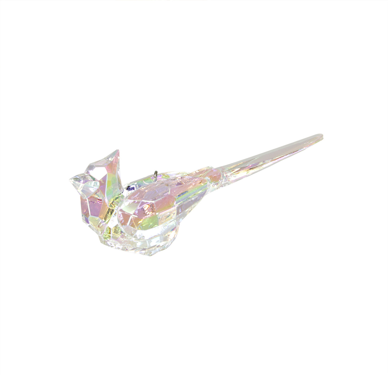 Christmas Great Egret Bird Star Religious Ornament: 4.25 Icy Crystal Refined Cardinal Bird Christmas Ornament