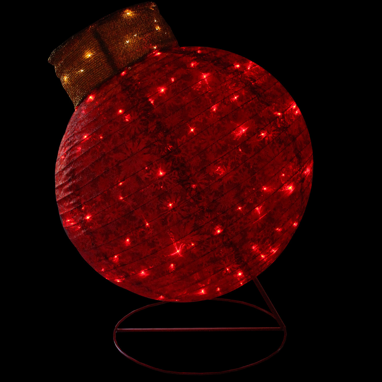 36 LED Lighted Twinkling Red Glitter Ball Ornament ...