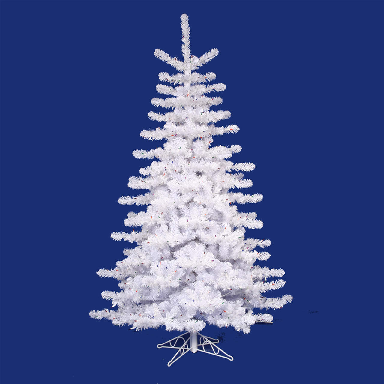 10 pre lit crystal white artificial christmas tree multi lights 11263088 - 10 Artificial Christmas Tree