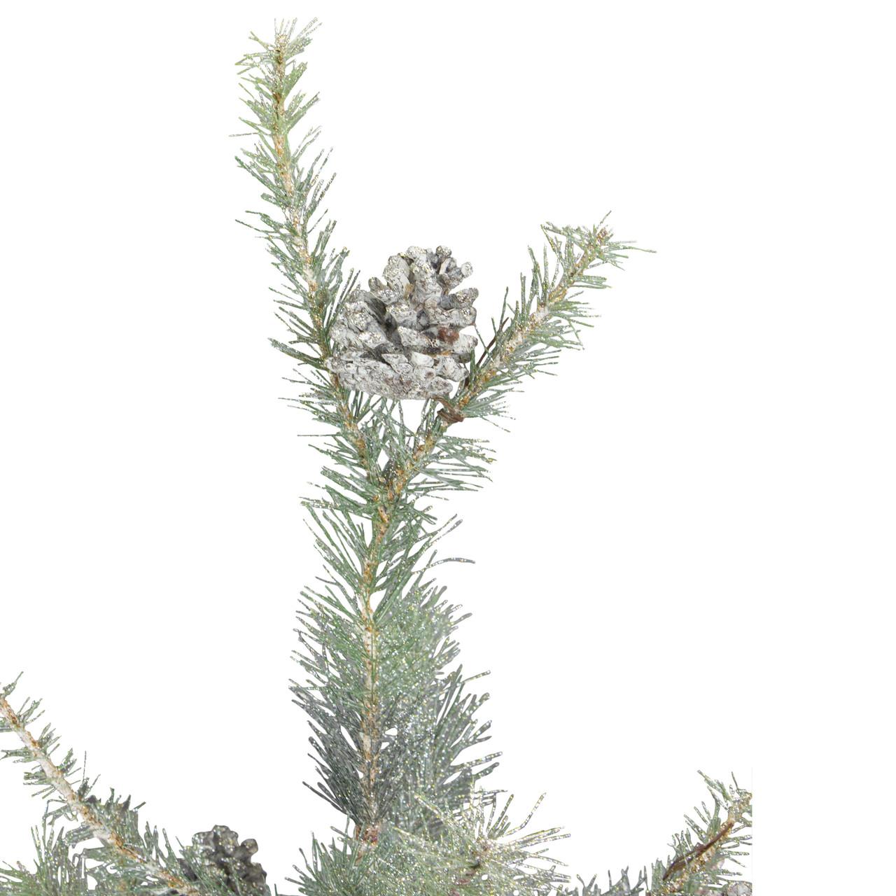 2' Silent Luxury Vintage Glitter Pine Artificial Christmas Tree  - Vintage Artificial Christmas Trees