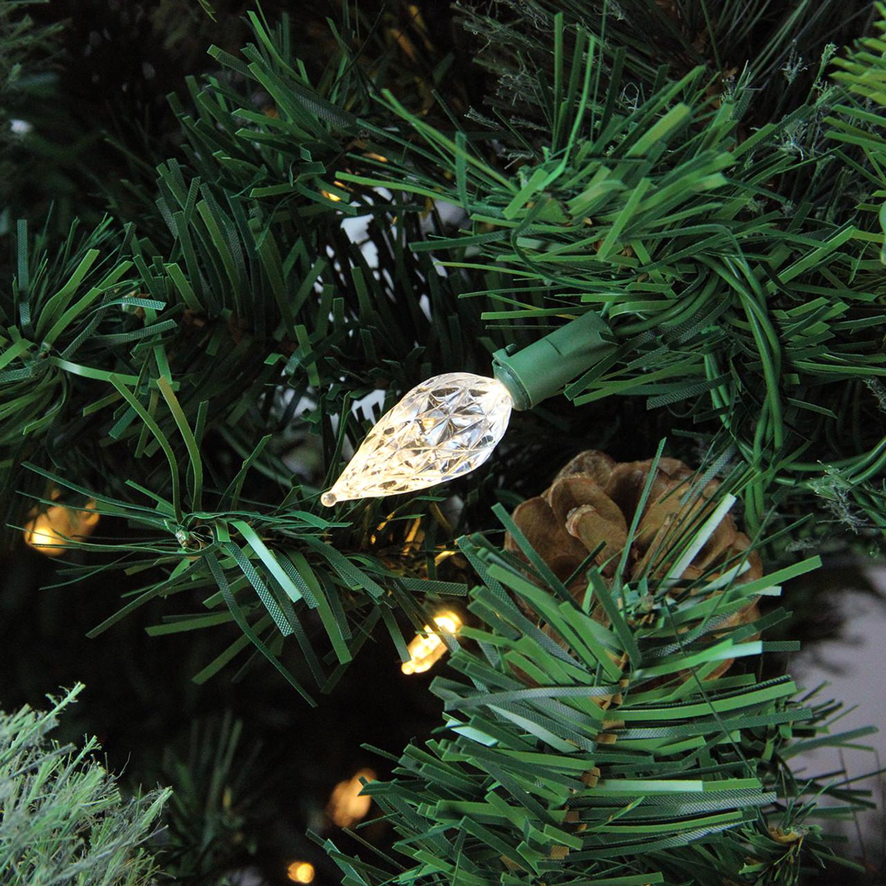 7 5 39 Pre Lit Single Plug Mixed Cashmere Pine Self Shape