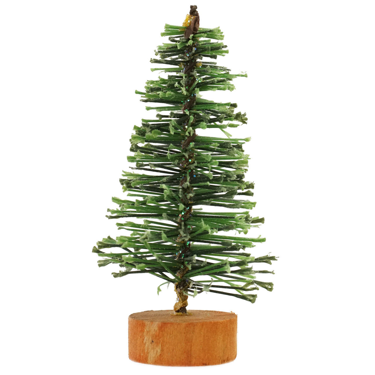 3 green bottle brush artificial mini pine christmas tree 31466582 - Bottle Brush Christmas Tree