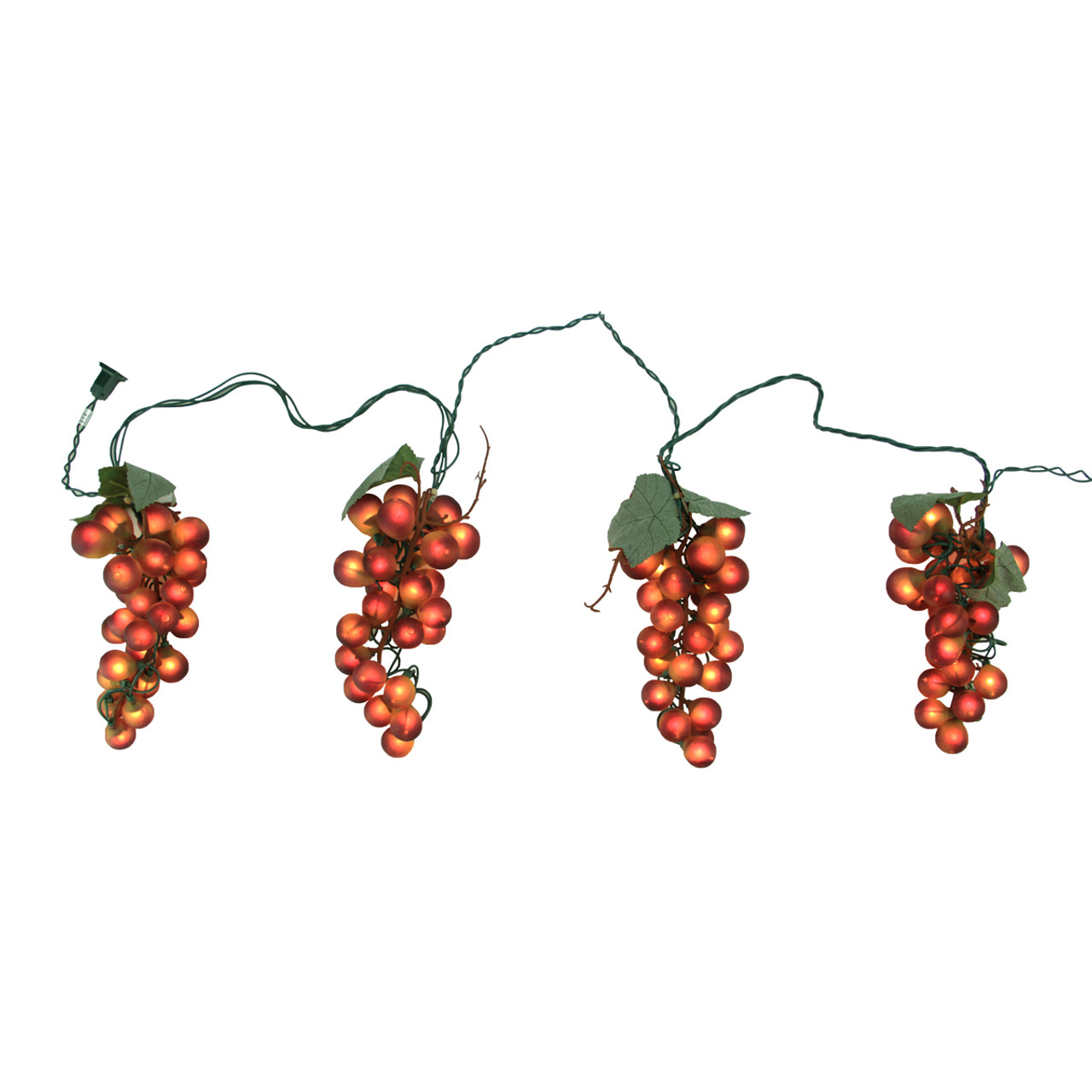 Outdoor Hanging Grape Lights: Tuscan Winery Red Grape Summer Garden Patio Christmas