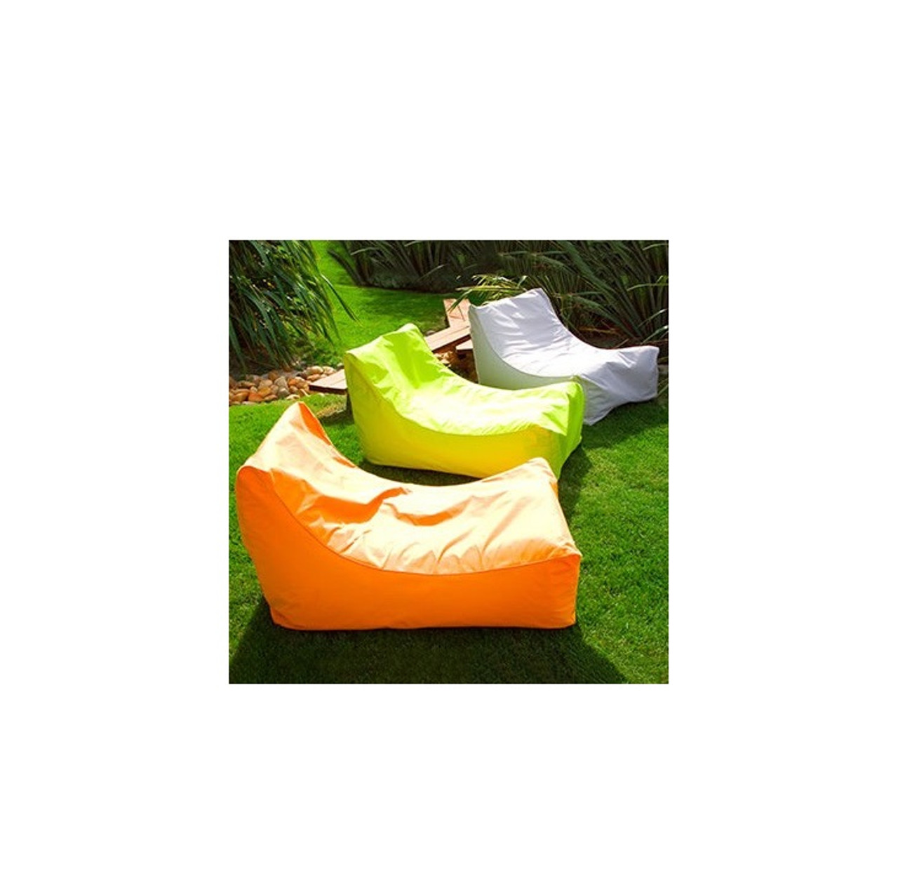 43 Vibrant Orange Sunsoft Inflatable Chaise Swimming Pool Float for Water or Land