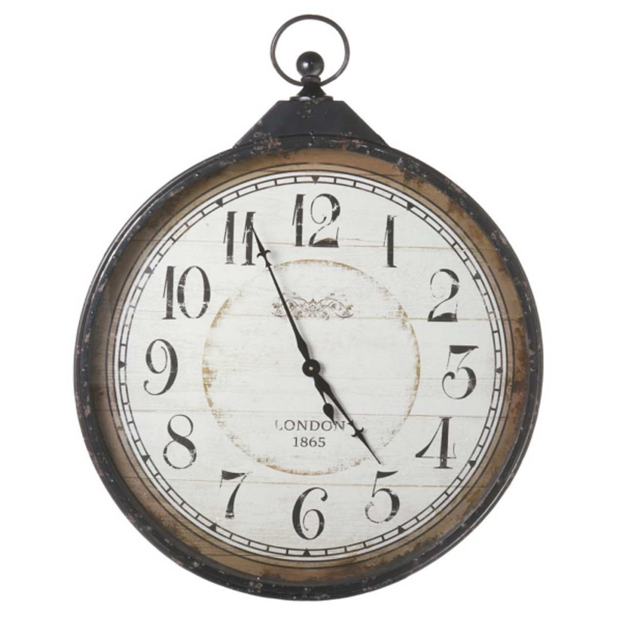 4075 extra large distressed antique style black pocket watch wall 4075 extra large distressed antique style black pocket watch wall clock 30901401 amipublicfo Images
