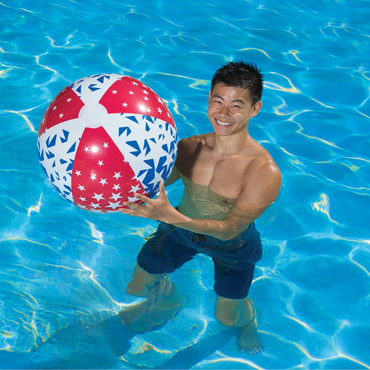 24 patriotic inflatable we the people 6 panel beach ball swimming