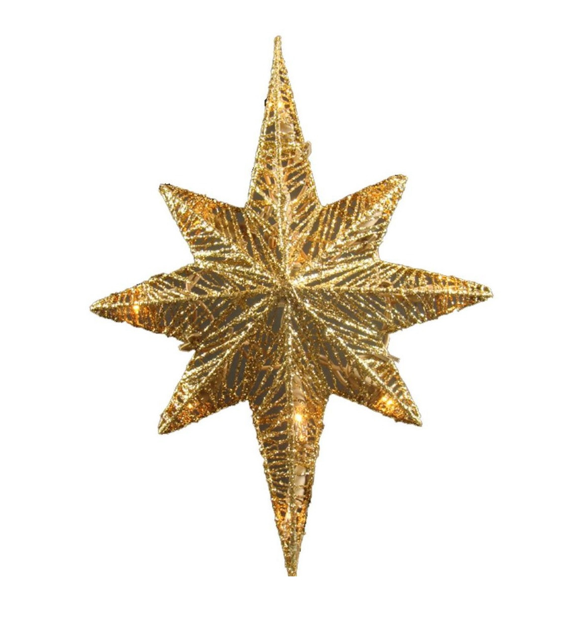12 Quot Lighted Gold Star Of Bethlehem Tree Topper Clear