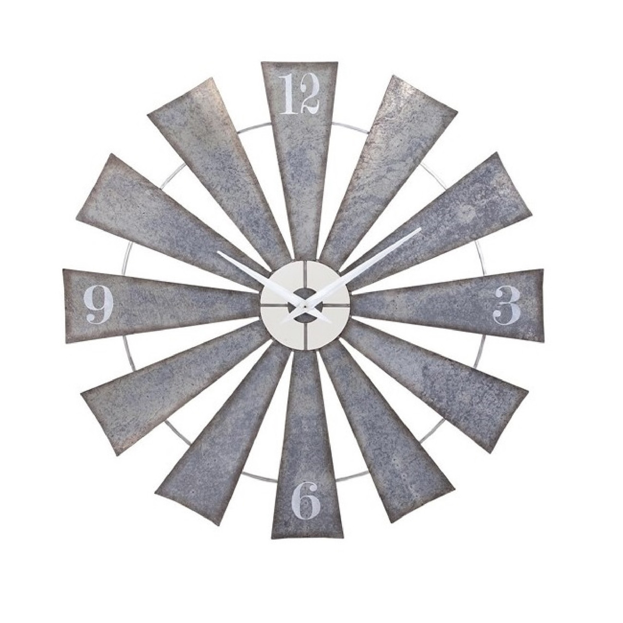 48 steel and pewter gray weathered windmill wall clock 48 steel and pewter gray weathered windmill wall clock 32599652 amipublicfo Images