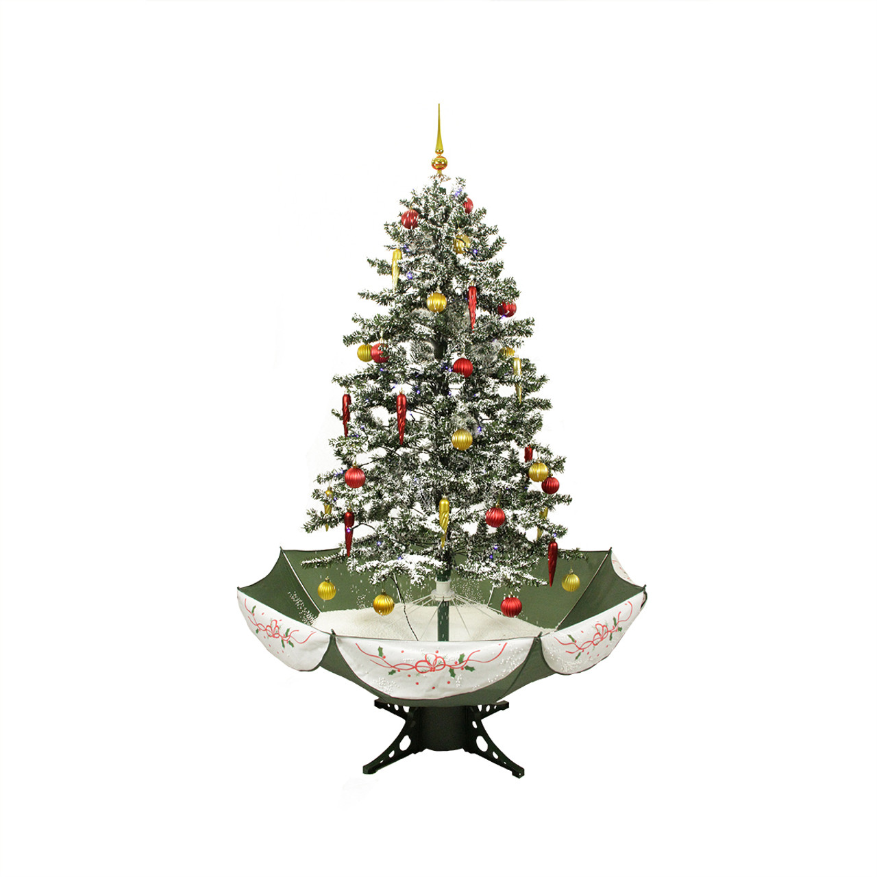 5.5' Pre-Lit Musical Snowing Artificial Christmas Tree With ...