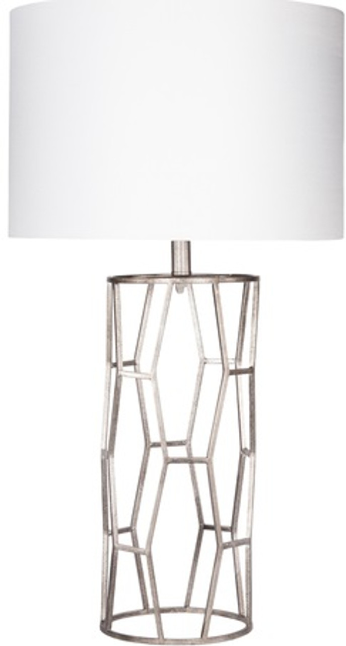 285 contemporary metal table lamp with antique silver geometric 285 contemporary metal table lamp with antique silver geometric base 31499992 geotapseo Choice Image