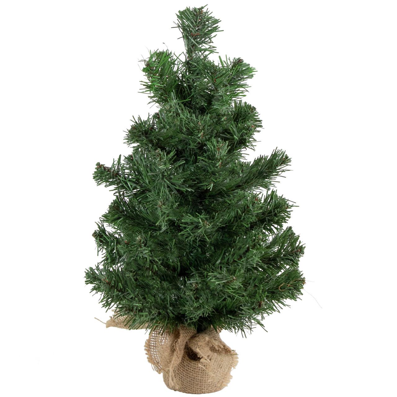 Miniature Artificial Christmas Trees: 18 Mini Pine Artificial Christmas Tree In Burlap Base