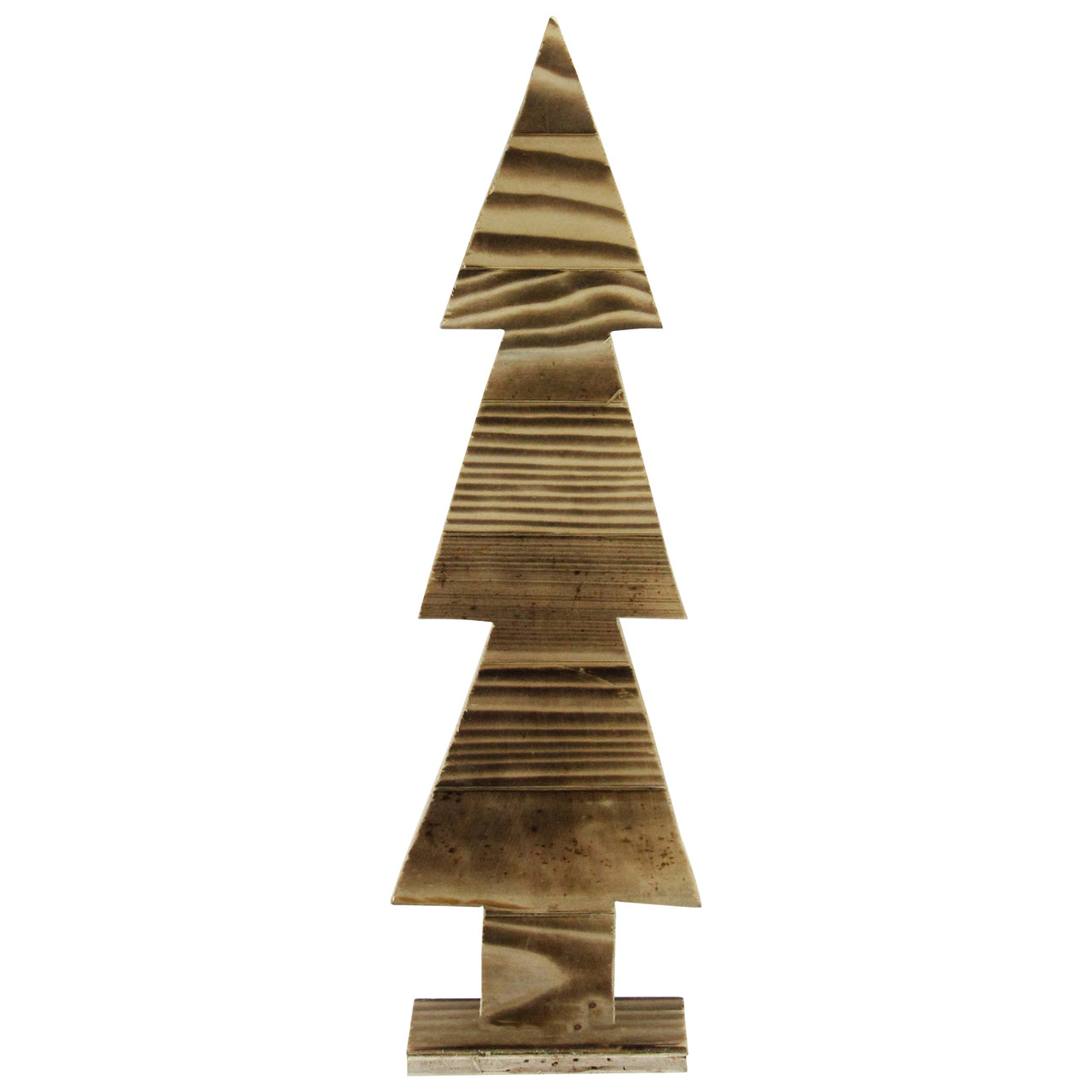 16 25 rustic wood cut out christmas tree table top decoration