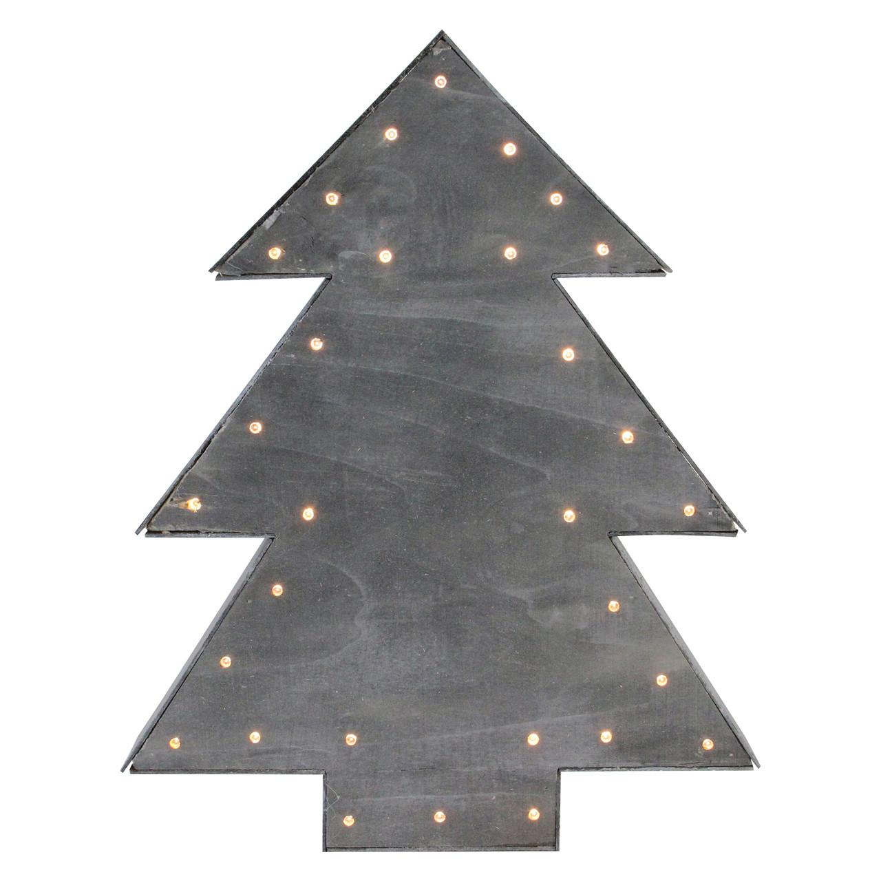 17 small lighted grey tree christmas table top decoration 32621849 - Small Lighted Christmas Trees
