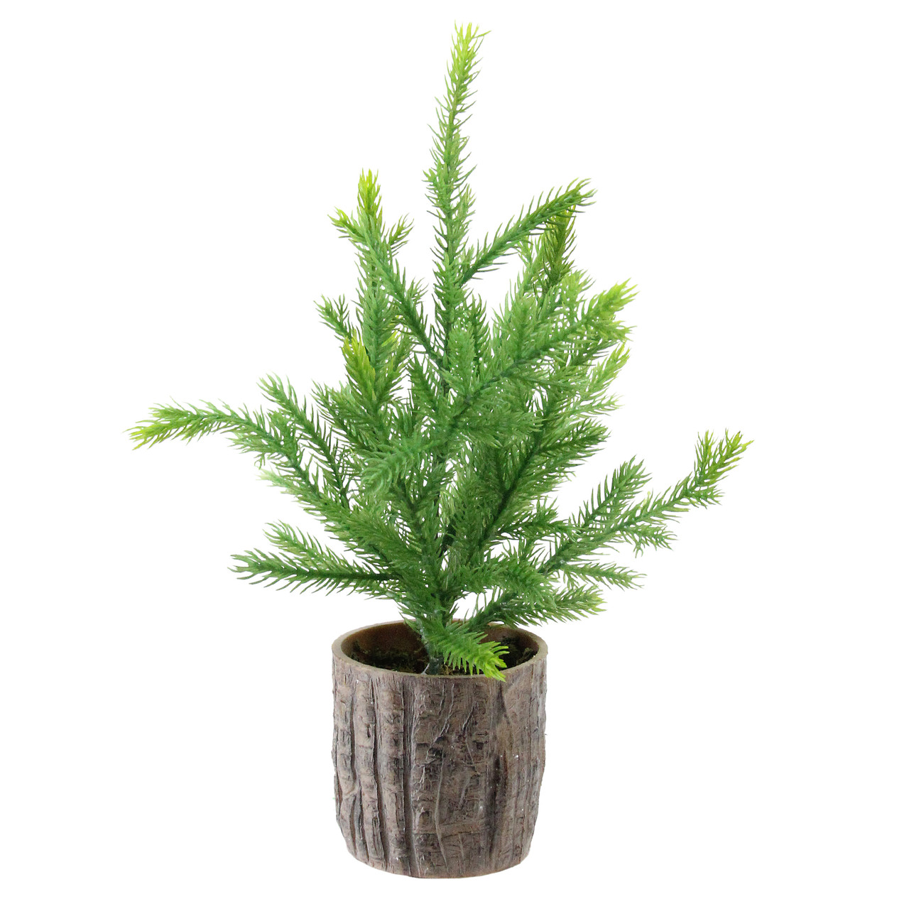 12 artificial pine christmas tree in faux wooden pot 32626952 - Christmas Tree In A Pot