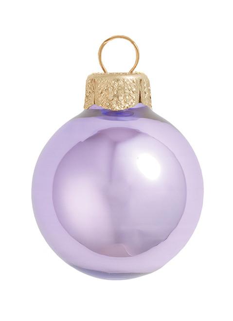 "40ct Pearl Lavender Purple Glass Ball Christmas Ornaments 1.5"" (40mm) - 30939412"