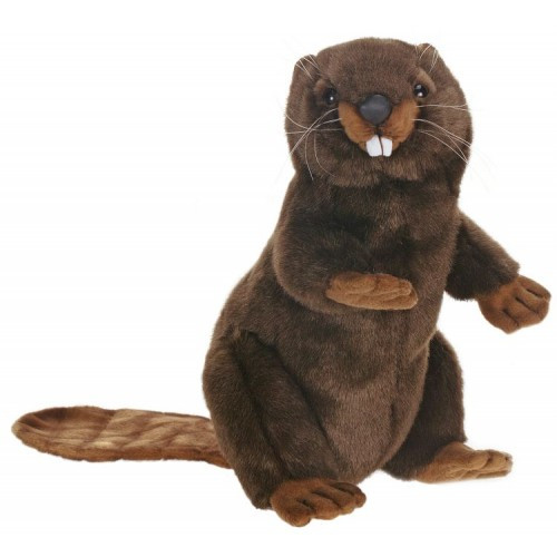 Set of 3 Lifelike Handcrafted Extra Soft Plush Sitting Beaver Stuffed Animals 11.5'' - 31068642