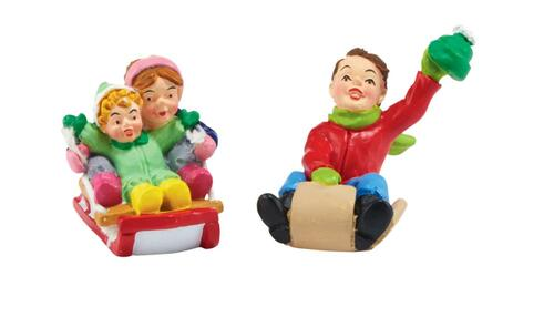 "Department 56 ""White Pines Thrill Seekers"" 2-Piece Village Accessory Set #4047544 - 31739172"