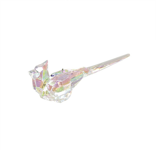 "4.25"" Icy Crystal Refined Cardinal Bird Christmas Ornament - 11075011"