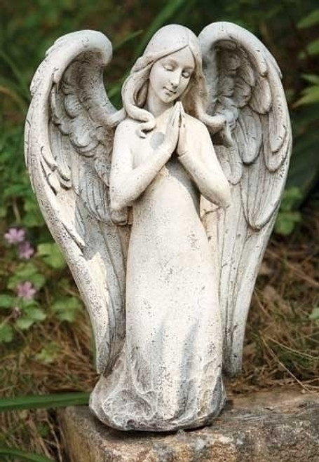 "10.25"" Joseph's Studio Contemporary Angel Kneeling in Prayer Religious Outdoor Garden Statue - 31357101"