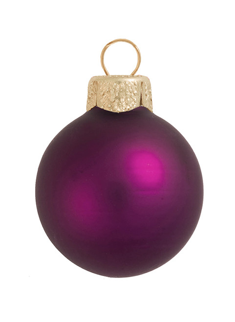 """28ct Matte Pink Berry Glass Ball Christmas Ornaments 2"""" (50mm) - 30939545"""
