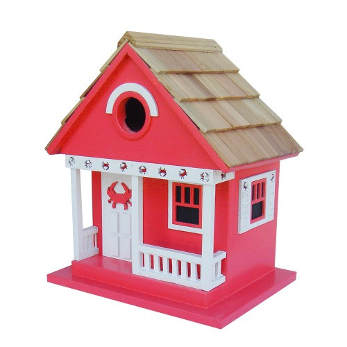 """9.5"""" Fully Functional Whimsical Crab Cottage Architectural Birdhouse - 30952436"""